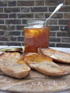 Apricot Pecan Toast & Whiskey Marmalade