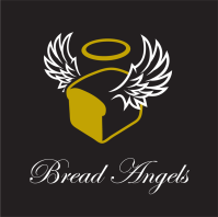 Bread Angels on black cube
