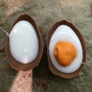 Home made creme eggs